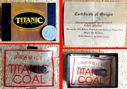 AUTHENTIQUE Morceau Charbon Scellé Du Paquebot TITANIC En Coffret Avec Certificat N° 94/8036 - Boats