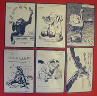 RARE 18 Cartes Publicité Les Animaux De Gibbs Nam Rabier Nézière Dyl éditeur Thibaud Paris Dos Scanné - Advertising