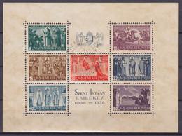 HONGRIE - BLOC 4 1938 SAINT YVAN OBLITERE USED COTE 40 EUR - Blocchi & Foglietti