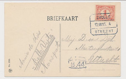Treinblokstempel : Zwolle - Utrecht A 1915 - Non Classificati