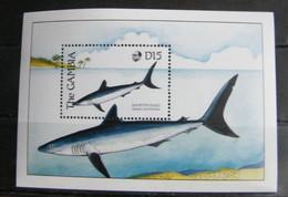 MZ63- GAMBIA 1989  FOGLIO SHEET D15 - FLORA FAUNA  - PESCI - FISH - Gambia (1965-...)