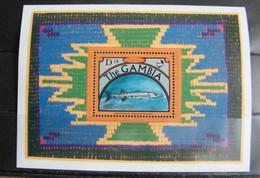 MZ63- GAMBIA 1991  FOGLIO SHEET D18 - FLORA FAUNA  - PESCI - FISH - Gambia (1965-...)
