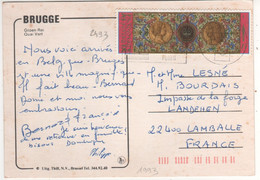 Beau Timbre , Stamp Yvert  N° 2493 Sur Cp , Carte , Postcard Du ?? - Storia Postale