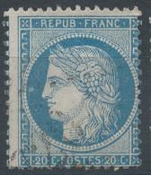 Lot N°60284   Variété/n°37, Oblit GC, Tache Blanche Face Au Nez Perles OUEST, Piquage - 1870 Besetzung Von Paris