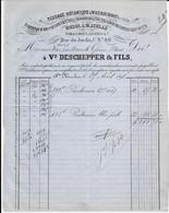 SAINT-NICOLAS ( Usine à WAERSCHOOT )    -  Vve Deschepper & Fils  ( Tissage Mécanique , Fabrique De Toiles  ) 1898 - Textilos & Vestidos