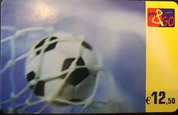 BELGIQUE - Prepaid  - PROXIMUS - Pay&GO - Ballon De Football - 12 E. 50 - GSM-Kaarten, Herlaadbaar & Voorafbetaald