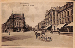 Luxembourg - Avenue De La Gare (animée Attelage Hotel Staar, 1925) - Luxemburg - Stadt