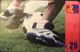 BELGIQUE - Prepaid  -  PROXIMUS - Pay&GO -  Football -  25 E. - GSM-Kaarten, Herlaadbaar & Voorafbetaald