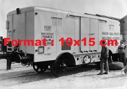 Reproduction Photographie Ancienne D'un Wagon Container Willeme-Coder Chemins De Fer P.L.M En 1935 - Reproductions