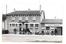 CPA 55 - DOMBASLE EN ARGONNE - PHOTO - CAFE RESTAURANT DE LA PAIX - ANDRE PERIE - Altri Comuni