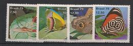 Brasil - 1979 - N°Mi. 1716 à 1719 - Papillons / Butterflies - Neuf Luxe ** / MNH / Postfrisch - Mariposas