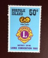 Norfolk Island 1980 Lions Convention MNH - Norfolk Island