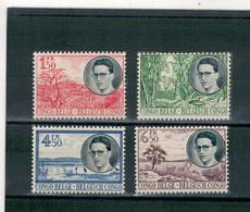 1955 - Voyage Royal Au Congo - Effigie Du Roi Baudouin Et Paysages. - 1947-60: Mint/hinged