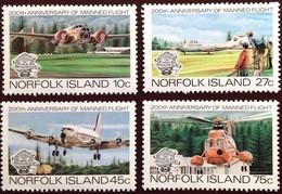 Norfolk Island 1983 Manned Flight Aviation Aircraft MNH - Norfolk Island
