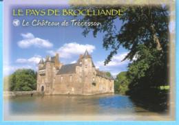 Le Pays De Brocéliande (Forêt)-Le Château De Trécesson (Campénéac-Ploërmel)-Légende De La Dame Blanche (texte Au Verso) - Ploërmel