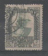 Libia 1921 - Pittorica 5 C. Varietà Centro Capovolto           (g7516) - Libya