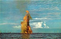 Pays Div- Ref Y290- Venezuela - Petrole -essence -lago De Maracaibo -torre De Petroleo Incendiada - - Venezuela