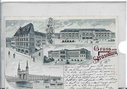 GRUSS AUS STRASSBURG SOUVENIR DE STRASBOURG UNIVERSITE VERS 1900 - Gruss Aus.../ Grüsse Aus...