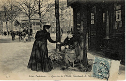 W4-quartier De L'etoile Marchande De Violettes - Artigianato Di Parigi