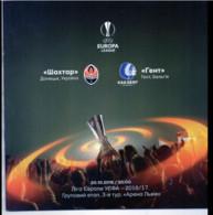 Football -  Program UEFA Europa League 2016-17 Shakhtar Donetsk Ukraine - KAA Gent Belgium - Books
