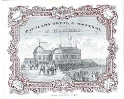 DE 582 - Carte Porcelaine Du Pavilion Royal, Ostende, Imp Daveluy, Bruges - Sin Clasificación