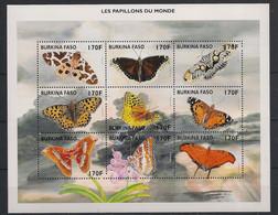 Burkina Faso - 1998 - Feuillet N°Yv. 1061 à 1069 - Papillons / Butterflies - Neuf Luxe ** / MNH / Postfrisch - Mariposas