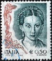 ITALIA, ITALIE, ITALY, DIPINTI DI DONNE, 2004, 0,50 €, FRANCOBOLLO USATO Mi.: IT 2821IIC  YT: IT 2694 - 2001-10: Usados