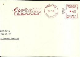 Lettre  EMA Secap 1970 Ortelli  Voiture 06 Cannes C38/05 - Zonder Classificatie