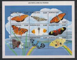 Burkina Faso - 1998 - Feuillet N°Yv. 1052 à 1060 - Papillons / Butterflies - Neuf Luxe ** / MNH / Postfrisch - Mariposas