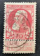 Leopold II Grove Baard 74 - 10c Gestempeld EC GINGELOM - 1905 Barba Grossa