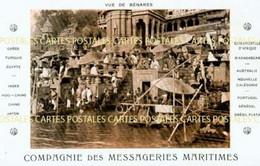 INDE Vue De BENARES Et Ses Pélerins Baigneurs Carte Des Messageries Maritimes - India