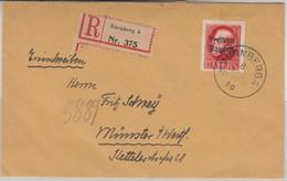 Bayern - 3 M. Ludwig/Freistaat, Philat. Einschreibebrief Nürnberg - Münster 1920 - Bavaria