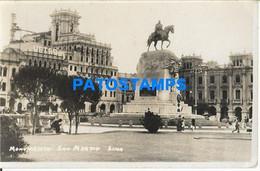 157512 PERU LIMA MONUMENTO SAN MARTIN POSTAL POSTCARD - Peru