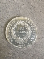 1978 50 FRANCS HERCULE ARGENT QUALITE FRANCE (SILVER) - M. 50 Francs