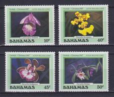 BAHAMAS 1987, Mi# 663-666, Flowers, MNH - Bahamas (1973-...)