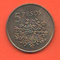 Guinea Bissau FAO 5 Pesos 1977 Guinè Bissau Nickel  Coin - Guinea-Bissau
