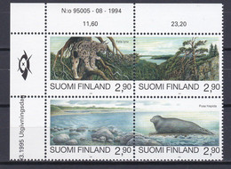 1995. Finland. Nature Protection  Mi. 1291-1294 (MNH **) - Nuevos