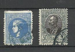 SERBIEN SERBIA 1869 & 1905 Michel 14 & 90 Y O - Serbia