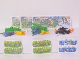 """KINDER SURPRISE 1999 Deutch :       Série """" Tierisches Rendez-vous """" + 3 BPZ + 3 Stickers - Mountables"""
