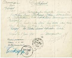 Bovigny, WW2, Laissé-passer Pour L'institutrice D'Arbrefontaine, Contresigné Le 1/6/40 à Vielsalm - Gouvy