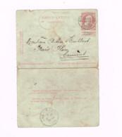 Carte-lettre à 10 Centimes.Expédié De Mons à Carnières. - Postbladen