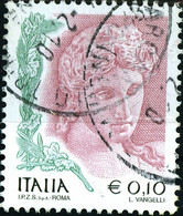 ITALIA, ITALIE, ITALY, TESTA DI TERRACOTTA, 2004, 0,10 €, FRANCOBOLLO USATO Mi.: IT 2818II  YT: IT 2737 - 2001-10: Usados