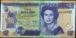 ♛ BELIZE - 2 Dollars 01.11.2014 UNC P.66 E - Belize