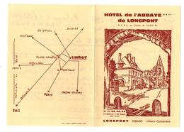 Programme Et Menu Hôtel De L'Abbaye De Longpont Villers-Cotterêts Saint-Sylvestre Dîner Aux Chandelles 1978 + Plan - Programs