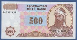 AZERBAIJAN - P.19b – 500  MANAT  Nd (1993)  UNC   Serie BA - Azerbaïjan