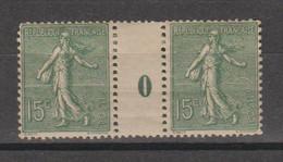 Semeuse Lignée 15c Vert-gris Type IV De  1920 - Millésimes