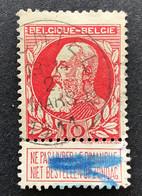 Leopold II Grove Baard 74 - 10c Gestempeld RELAIS HECHTEL - 1905 Barba Grossa