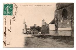 CPA Marguiller Ed  17 Environs De Puiseaux, La Neuville Place Et Ruines Semeuse Verte Recto 1910 - Other Municipalities