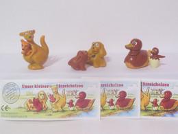 """KINDER SURPRISE 1999 Deutch :       Série """" Animaux Et Leurs Petits """" + 3 BPZ - Mountables"""