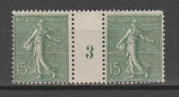 Semeuse Lignée 15c Vert-gris Type IV De  1923 - Millésimes
